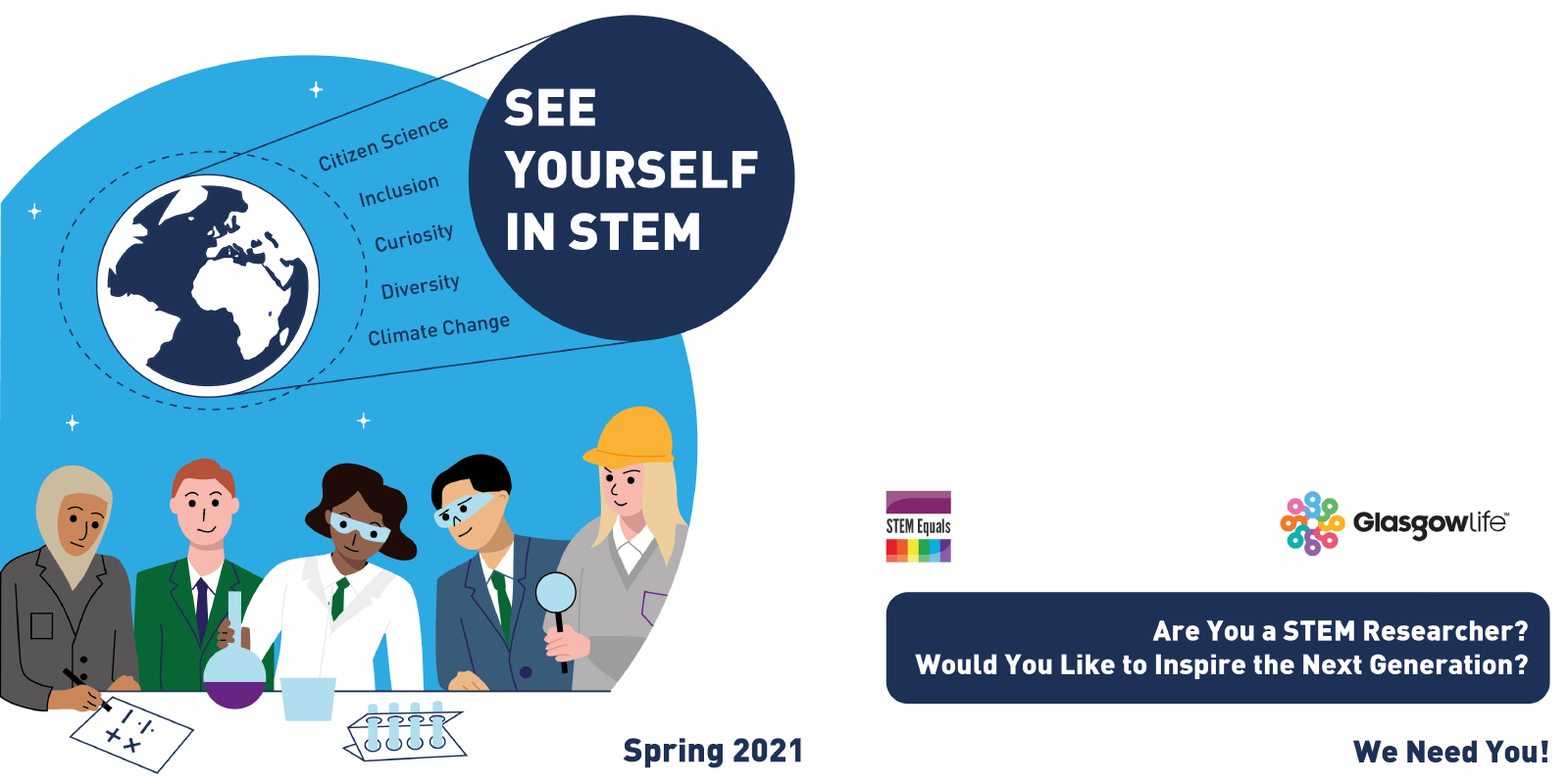 See Yourself in STEM. Are you a STEM Researcher? Would you Like to Inspire the Next Generation? We Need You!